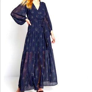 NWT ModCloth Chiffon Maxi Dress